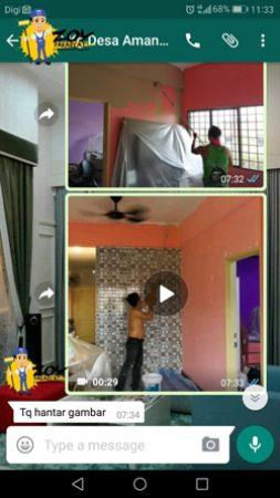 Testimoni Zoy Pakar Cat Dinding Selangor Anda